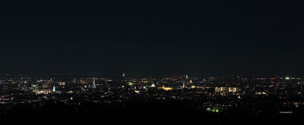 Vienna at Night from Kahlenberg