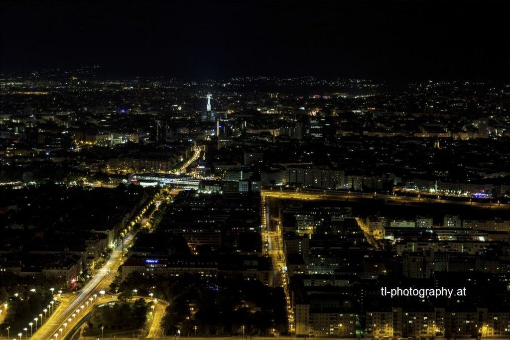 Vienna at Night from the DC Tower