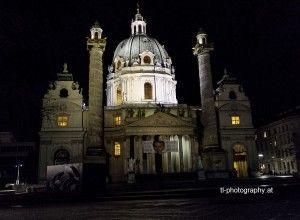 Karlskirche in Vienna. Taken with EOS 600D and ISO 3200 free hand