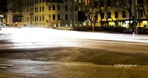 Long Exposure Capture at Liechtenwerderplatz in Vienna.