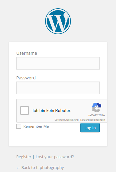 recaptcha wordpress login